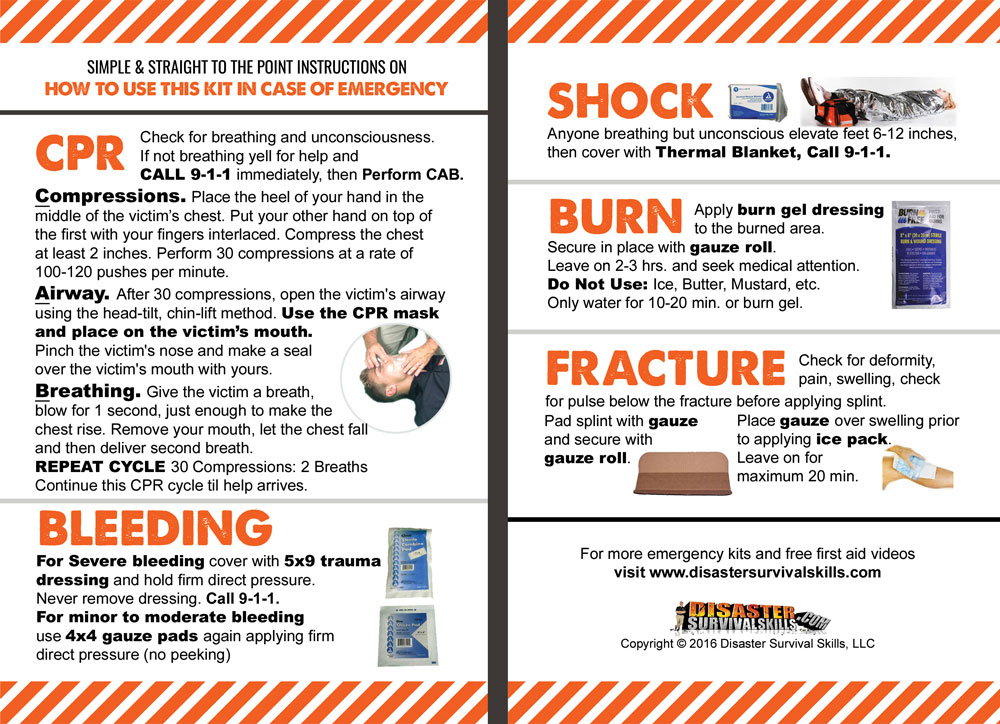 first aid instruction manual download