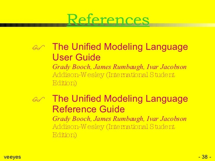 the unified modeling language reference manual by james rumbaugh